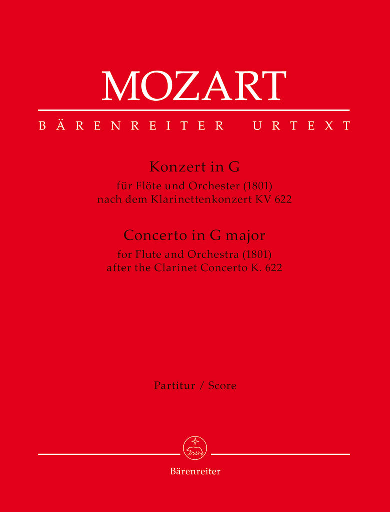 Concerto in G major (After the Clarinet Concerto) K622 (Full Score)