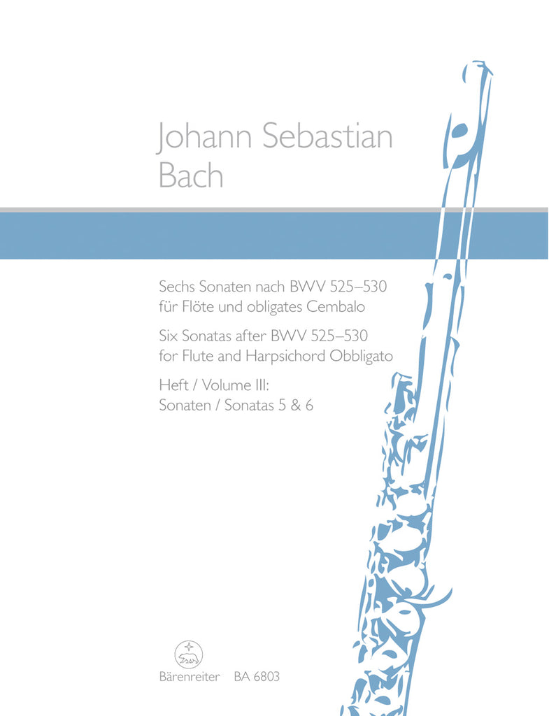 Six Sonatas after BWV 525-530, Volume 3 (Sonatas 5 & 6) (Flute and Piano)