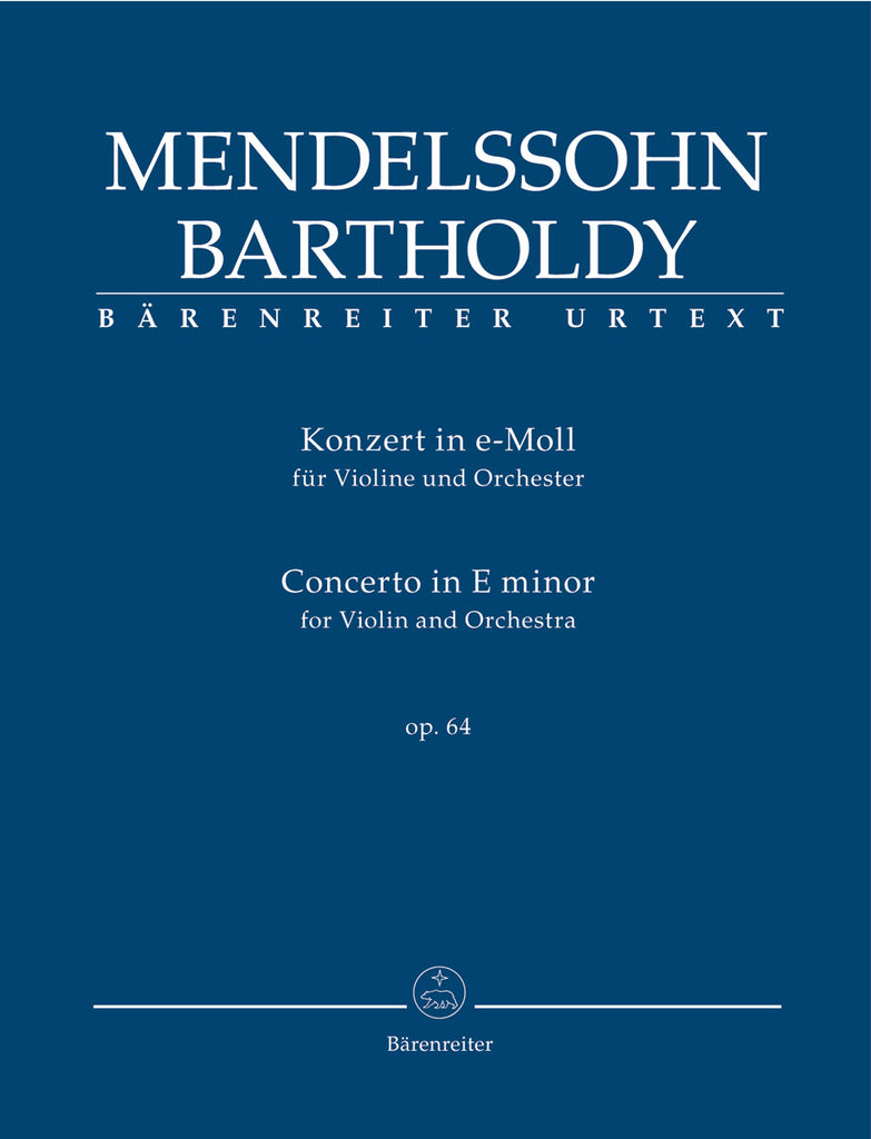 Concerto for Violin and Orchestra in e minor op. 64 (Orchestral Score)