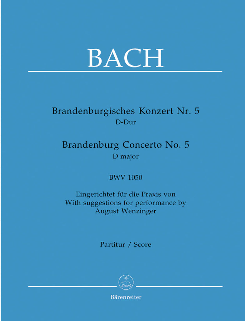 Brandenburg Concerto No. 5 in D major BWV 1050  (Full Score)