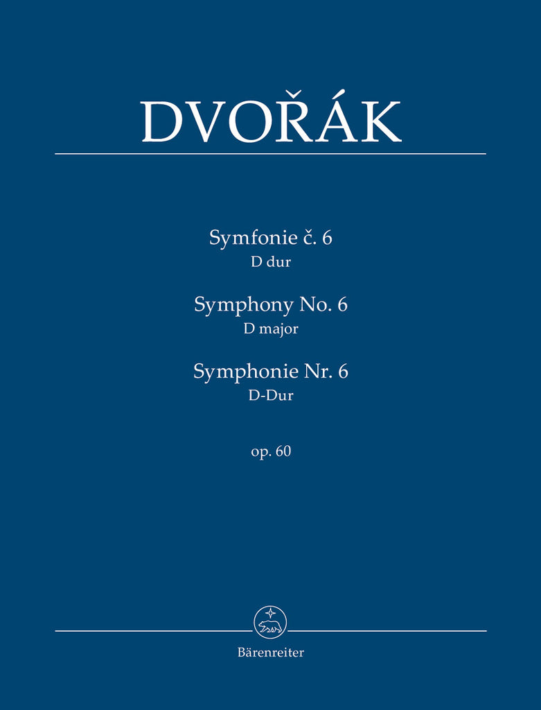 Symphony No. 6 in D major op. 60 (Orchestral Score)