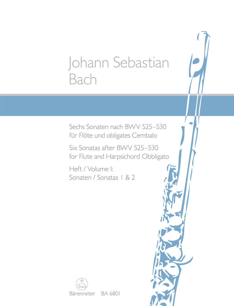 Six Sonatas after BWV 525-530, Volume 1 (Sonatas 1 & 2) (Flute and Piano)