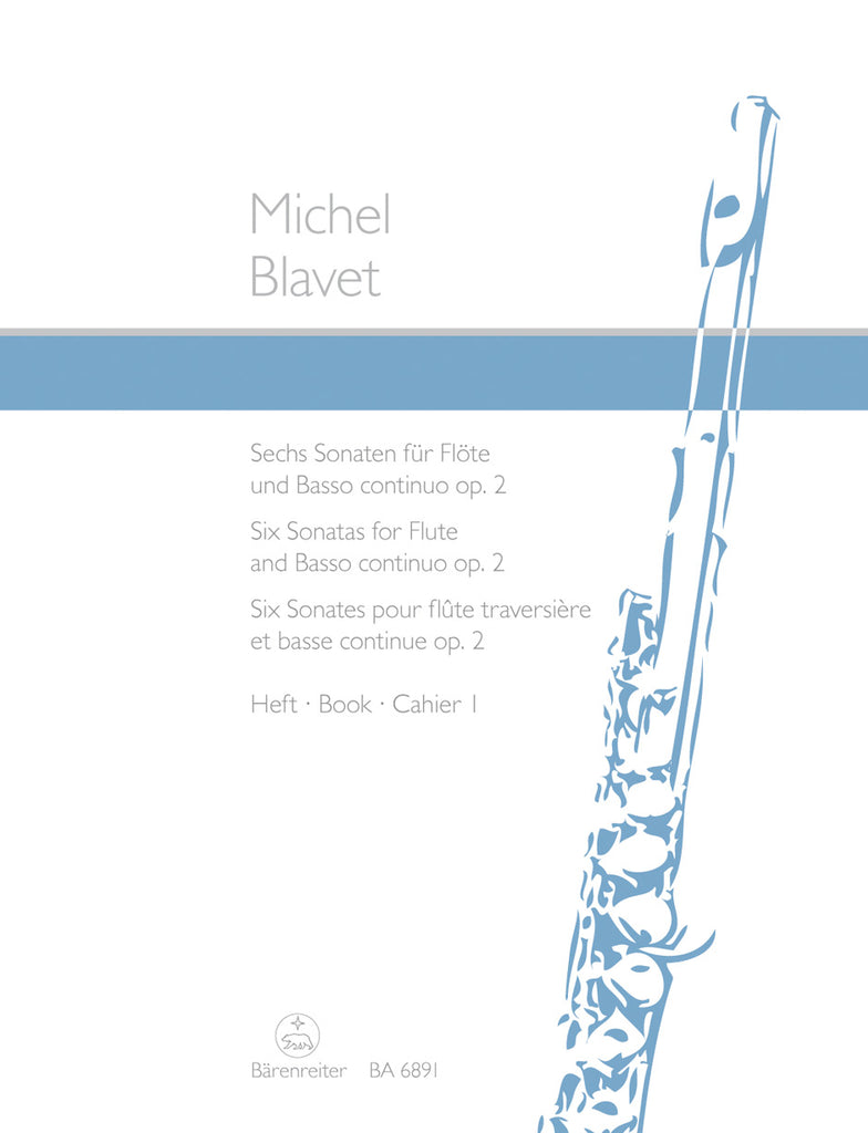 Flute Sonatas (6), Op. 2 #1-3 (Flute and Piano)