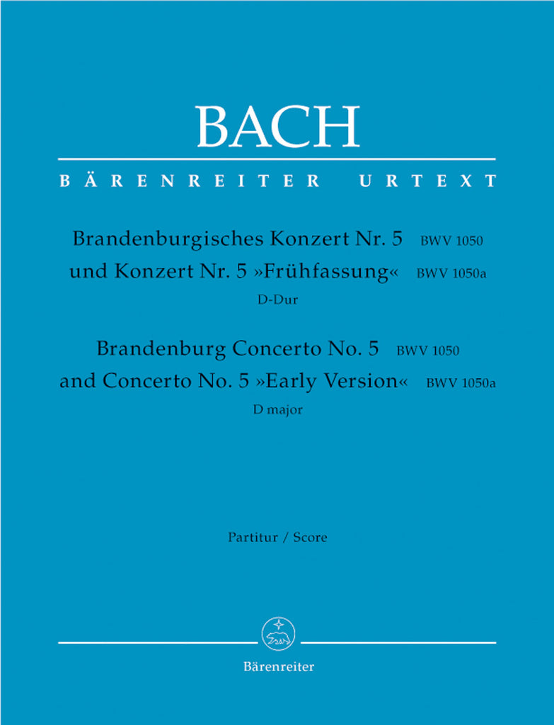 Brandenburg Concerto No. 5 in D major BWV 1050, Urtext (Full Score)