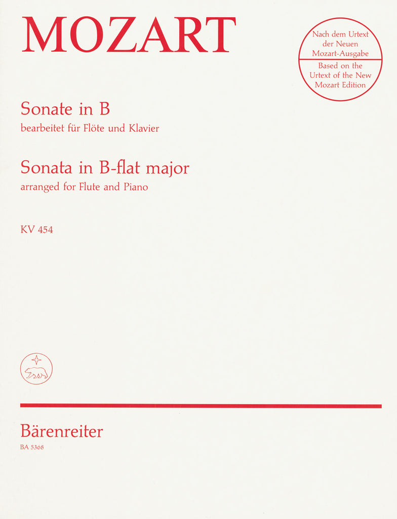 Sonata in B flat major (Flute and Piano)