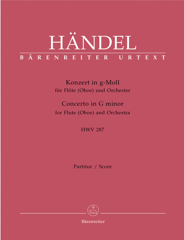 Concerto in g minor, HWV 287 (Full Score)