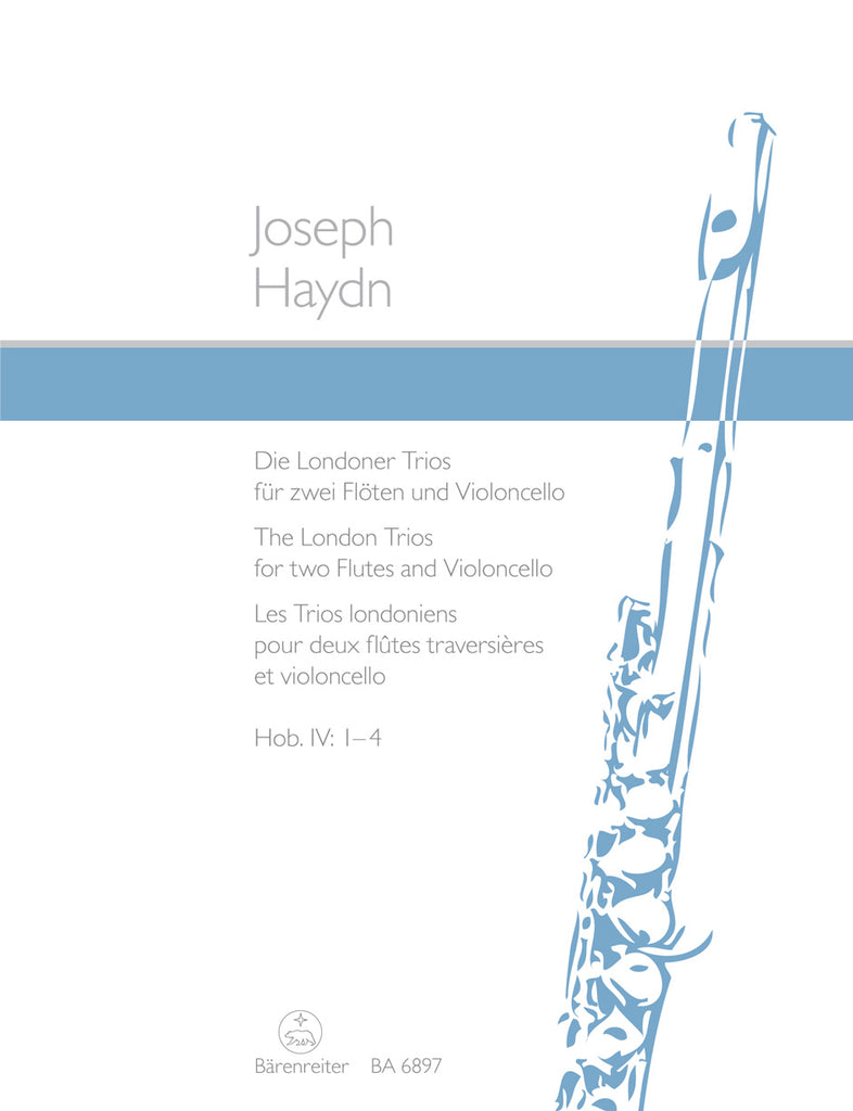 London Trios Hob. IV:1-4 for 2 Flutes & Violoncello