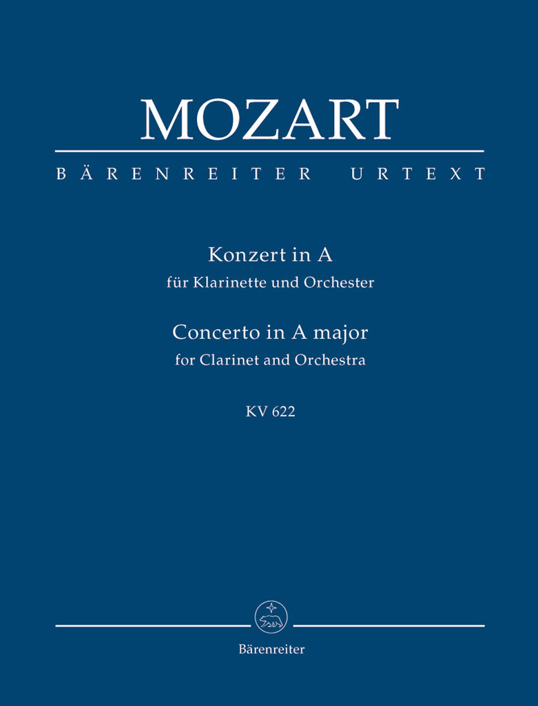 Concerto for Clarinet and Orchestra A major KV 622 (Orchestral Score)