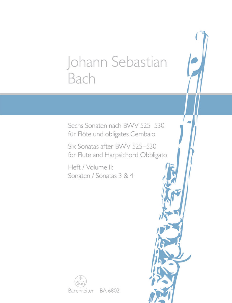 Six Sonatas after BWV 525-530, Volume 2 (Sonatas 3 & 4) (Flute and Piano)