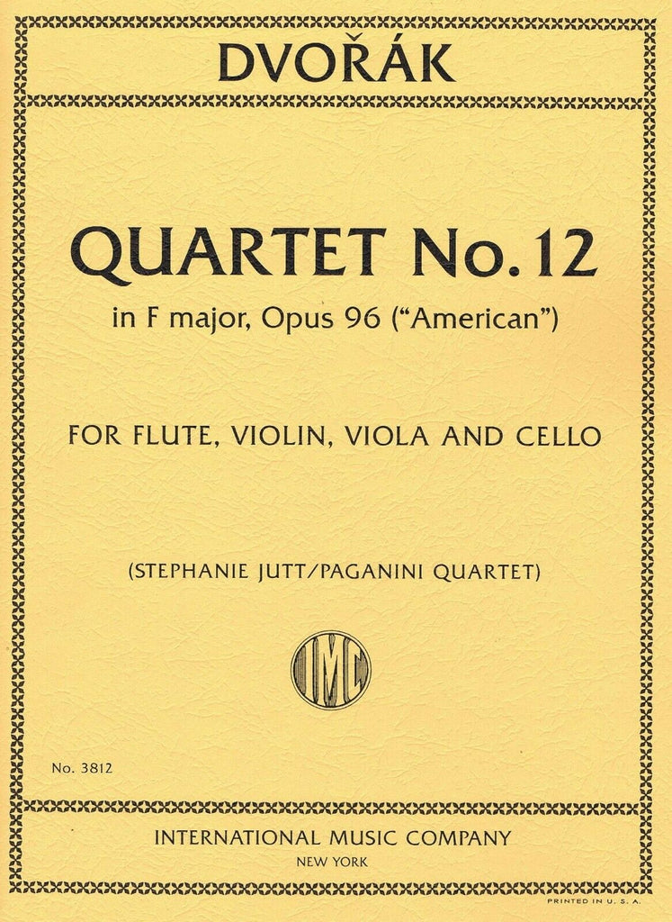 "Quartet No. 12 in F major, Opus 96 (""American"") (Flute and Strings)"