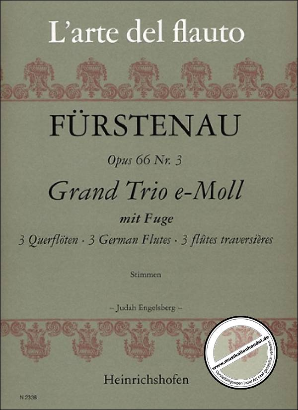 Grand Trio in E Minor Op. 66 No. 3 (Three Flutes)