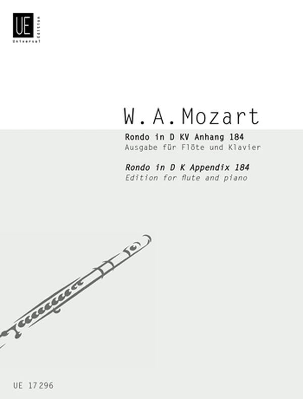Rondo in D Major, K184 (Flute and Piano)