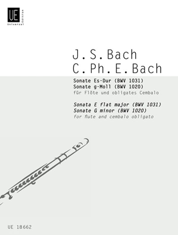Sonatas, in G minor (BWV 1020) and E-Flat Major (BWV 1031) (Flute and Piano)