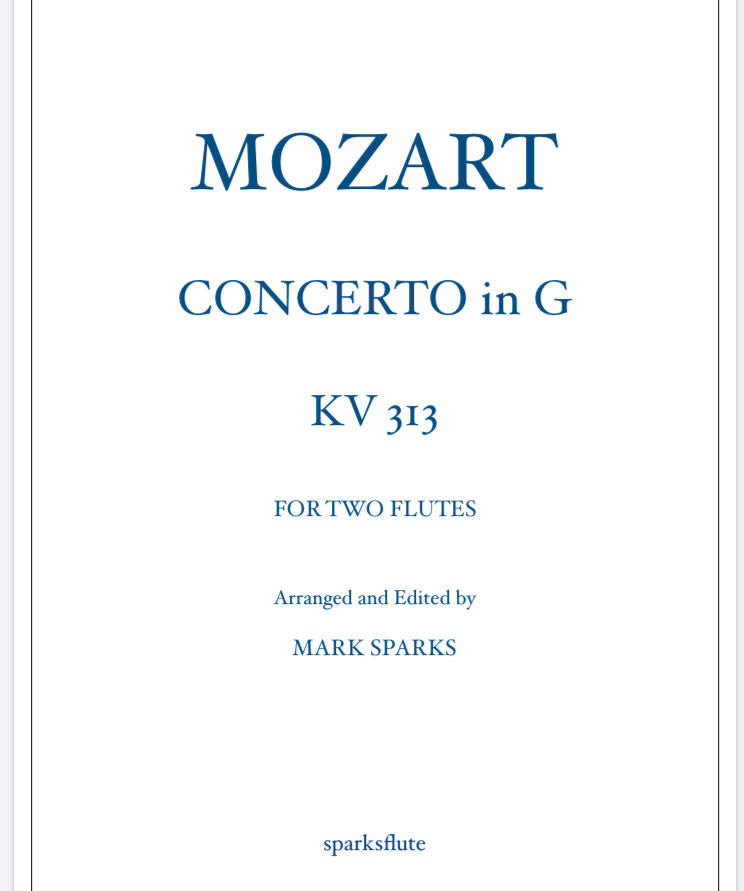 Concerto in G KV 313, W.A. Mozart (Two Flutes)