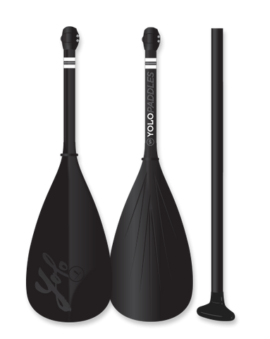 Adjustable Paddle for Paddle Board - Black YOLO Brand