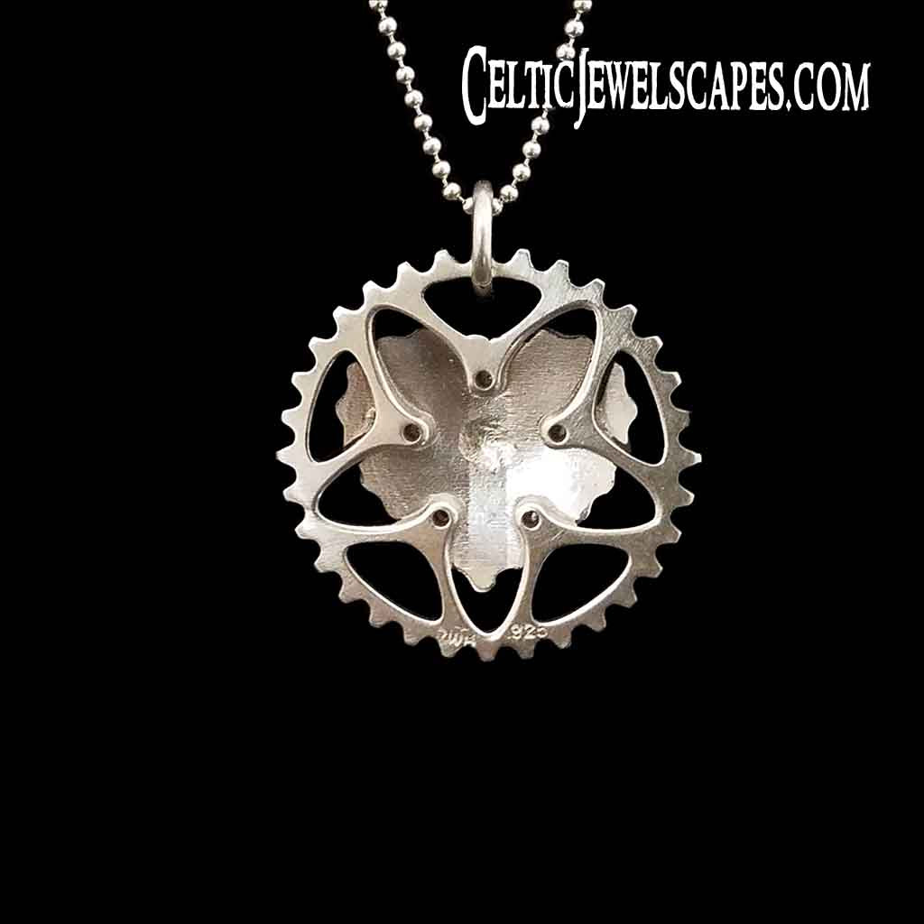 BIKE CHAIN HEART - Sterling $99-$109 14KT $799-$809 - Celtic Jewelscapes