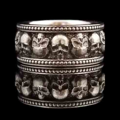 WEEKEND MADNESS - MEMENTO MORI II Band - Sterling $156.75 -- 1 ONLY -- SIZE 10 ONLY