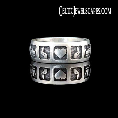 Major Tom Claddagh Band - Sterling $199 14KT $1299 - Celtic Jewelscapes