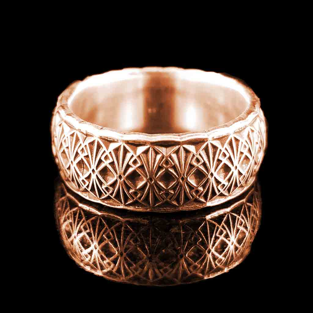 MODERNE Band - Silver $199 or 14KT $999 - Celtic Jewelscapes