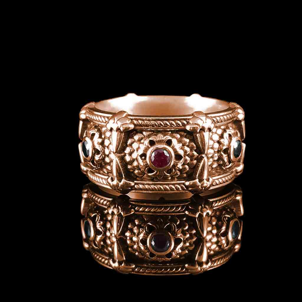 RELIC OF THE DRAGON LORD - 14KT with Rubies & Blk Diamonds $1499 Sterling with Rubies & Blk Spinels $279