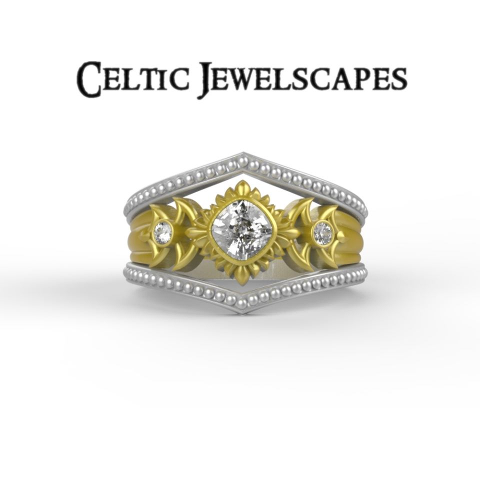 SUN AND MOON - 14KT with Diamonds $2899