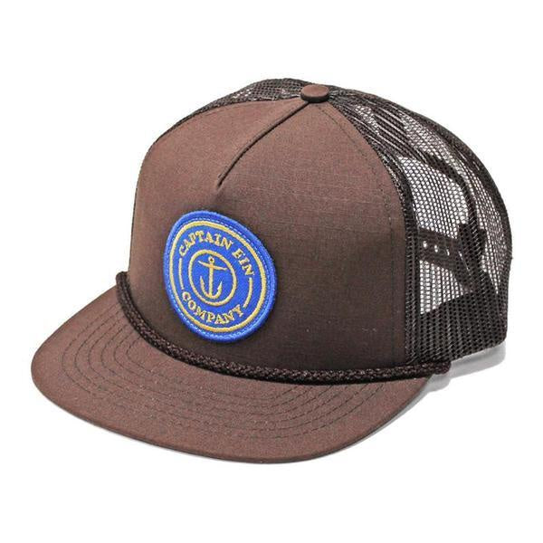 f18debc8da1 CAPTAIN FIN HAT FRESH CATCH PREM TRUCKER BROWN