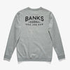 BANKS YESTERDAYS FLEECE HEATHER GREY