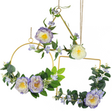 Lilac Hoop Wreath