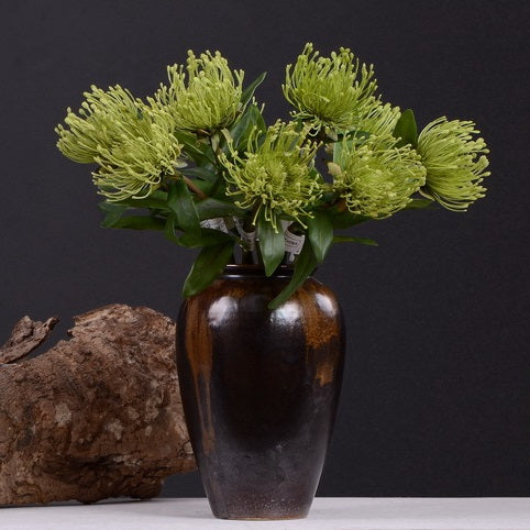 Pincushion Flower Green - 16""