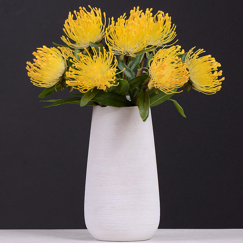 Pincushion Flower Yellow - 16""