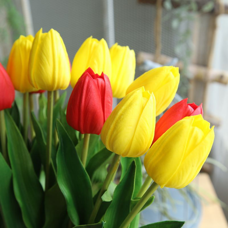 Tulips 10Pcs Yellow - 17.9""