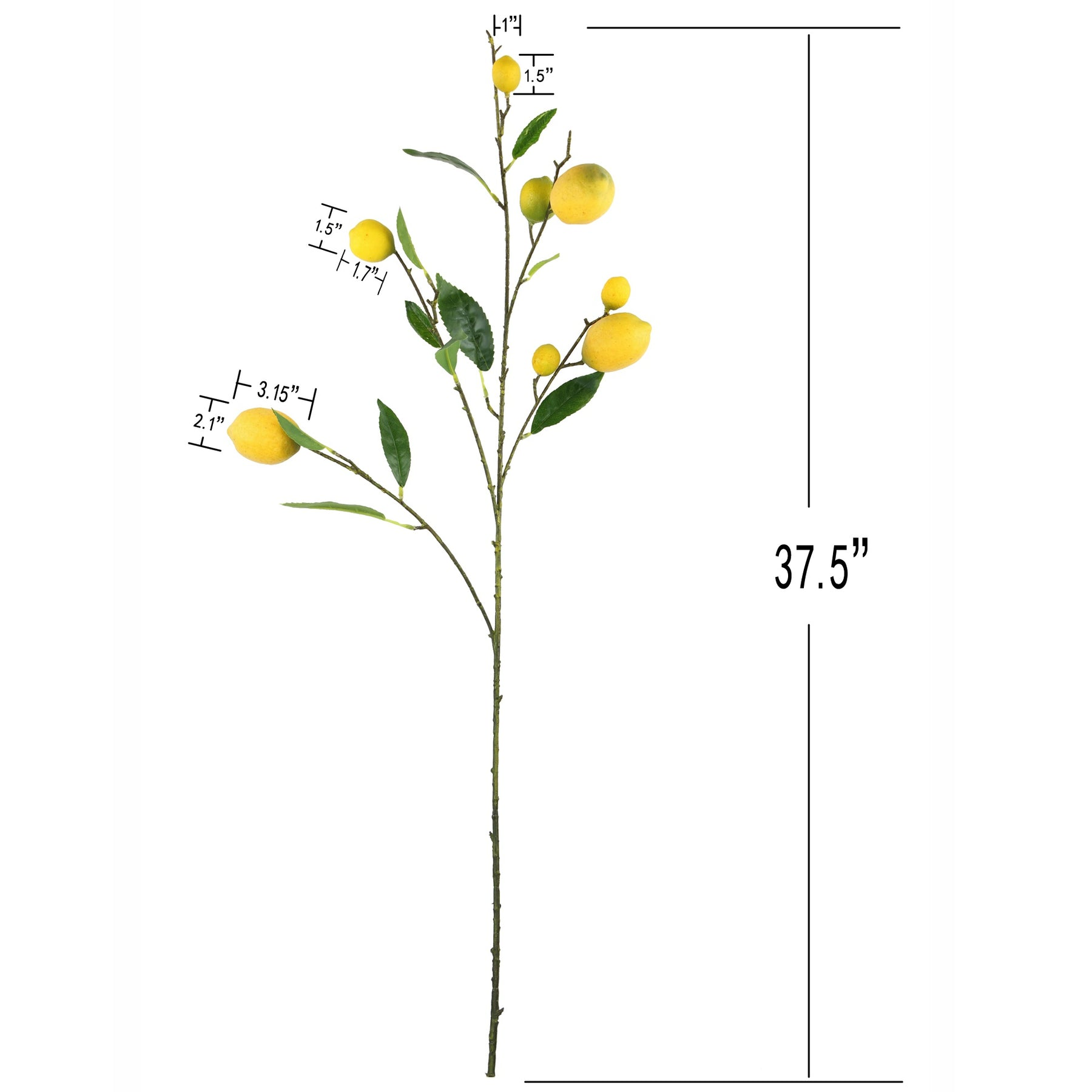 Rinlong Artificial Lemon Branches For Kitchen Party Decor Yellow Fake Lemon Decorations Farmhouse Style Home Dining Table Centerpiece Rinlong Flower