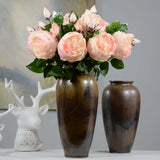 Artificial rose flower,Silk English Rose for DIY wedding bouquets (1 piece).