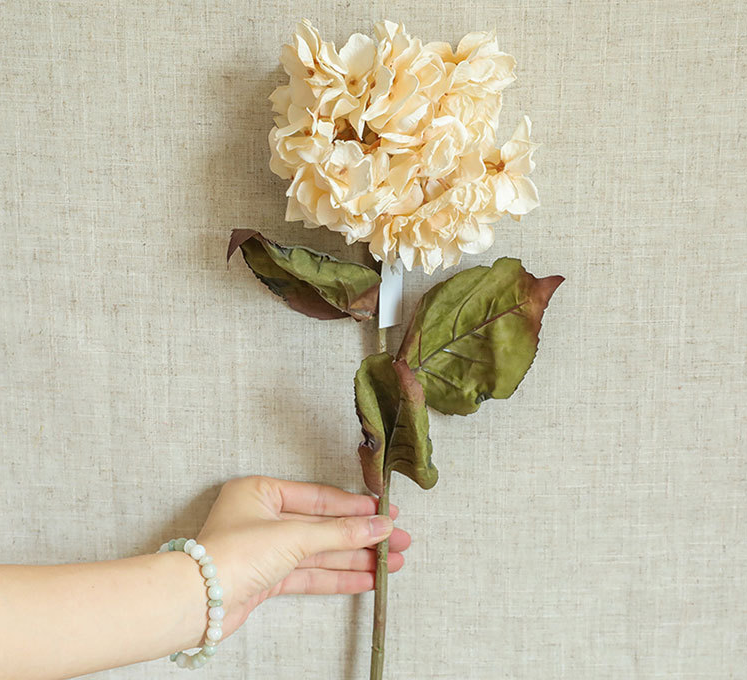 Artificial Hydrangea Peach Cream - 28""