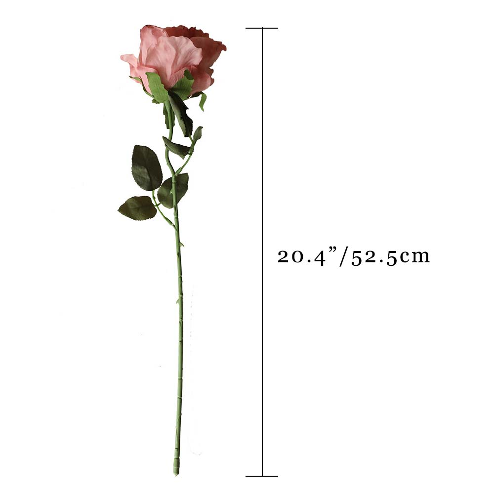 Artificial Dried Rose Burgundy - 20.4""