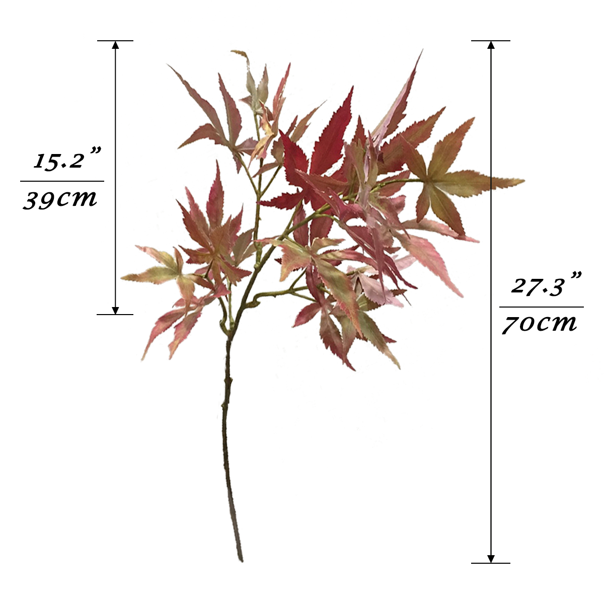 Japanese Maple Leaves Reddish Brown - 27""