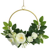 Cream White Hoop Wreath