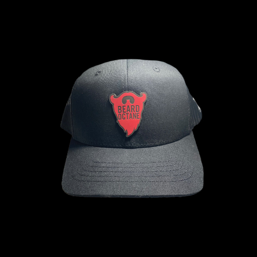 BEARD OCTANE LEATHER PATCH YOUTH TRUCKER HATS