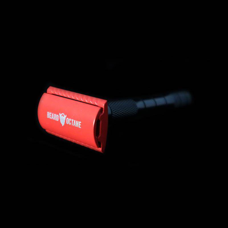 BEARD SAFETY RAZOR - RED - Beard Octane