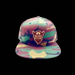 BEARD OCTANE FLAT BRIM LEATHER PATCH SNAPBACK HAT - Beard Octane