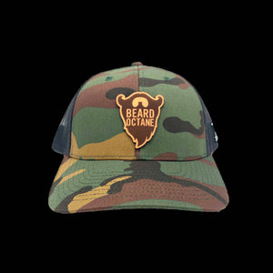 BEARD OCTANE LEATHER PATCH TRUCKER HATS - Beard Octane
