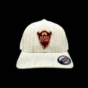 BEARD OCTANE LEATHER PATCH FLEXFIT HAT - Beard Octane