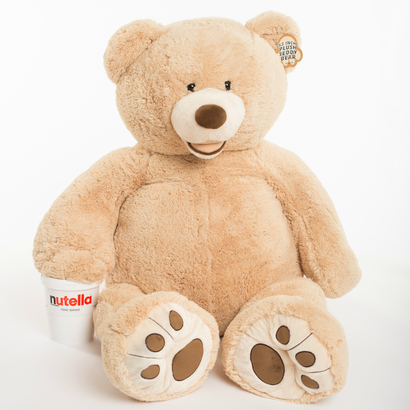 tuscan big bear love with Nutella 134cm