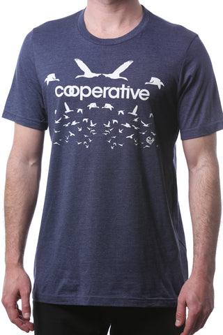 rootfire cooperative flock - heather navy