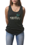Wordmark w/Sankofa TankTop (Heather Charcoal)