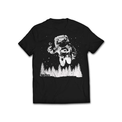 Astronaut In The Woods T-Shirt (Black)