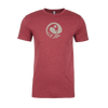 Rootfire Cooperative Circle Sankofa T-Shirt (Heather Cardinal)