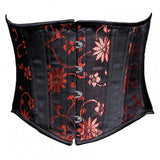 SOLD OUT | Black with Red Daisy Waist Cincher