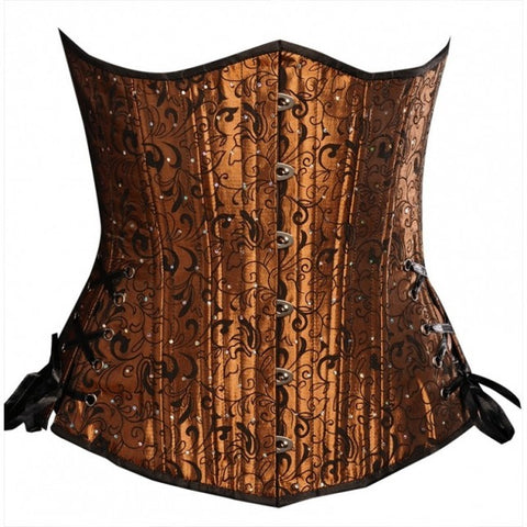 Copper Floral Long Corset