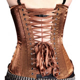 Steampunk Bronze Satin Corset
